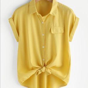 yellow cuffed shirt